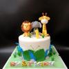 Bánh fondant chủ đề thú cho bé ngày sinh nhật