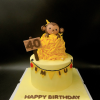 Bánh fondant chủ đề tuổi khỉ cho sinh nhật