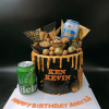 Bánh fondant sinh nhật cho ba đơn giản sang trọng