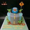 Bánh fondant xe hơi cho bé trai sinh nhật
