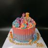 Bánh kem bơ chủ đề pony cho sinh nhật bé gái