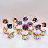 10 cupcake xoắn kem in hình bé gái size nhỏ