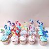 15 cupcake size nhỏ in hình dạng tag cắm pony