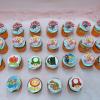 25 cupcake xoắn kem in hình chủ đề mario
