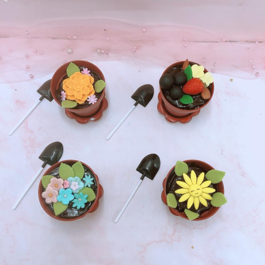 4 cupcake chậu hoa