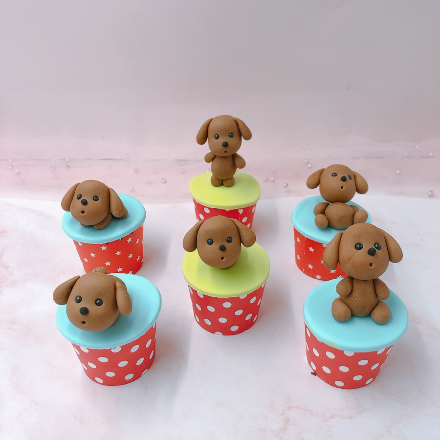 6 cupcake chó size nhỏ