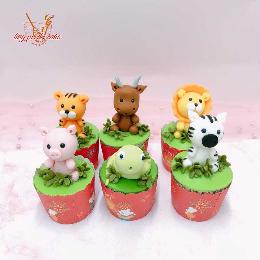 6 cupcake thú size nhỏ