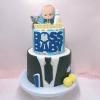 Bánh 2 tầng baby boss cho bé trai