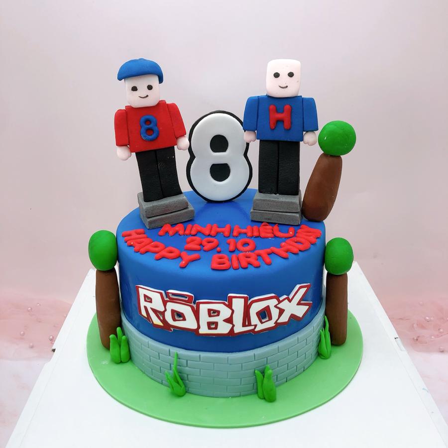 Bánh fondant chủ đề hoạt hình Roblox