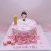 Bánh kem bơ công chúa dễ thương cho bé gái