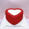 Bánh kem bơ chủ đề trái tim cho chồng
