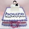 Bánh kem sữa in hình logo cho sự kiện công ty và sinh nhật sếp
