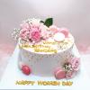 Bánh kem sữa trang trí hoa tươi