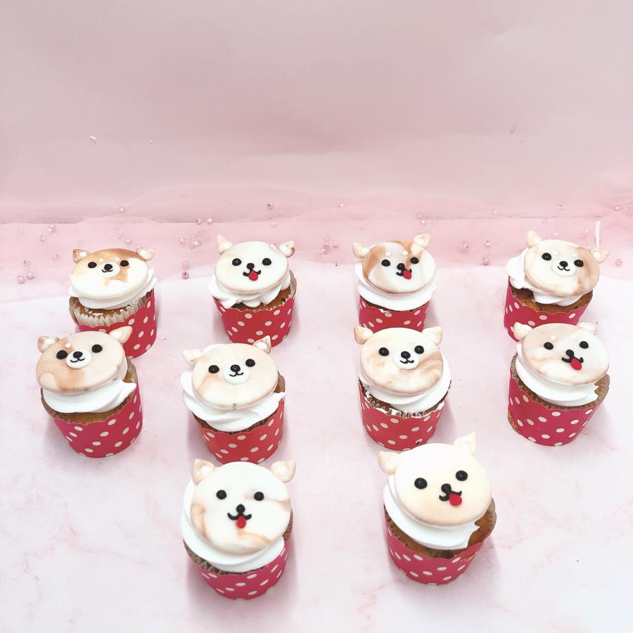 cupcake chủ đề chó cho bé