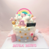 Bánh kem bơ chủ đề unicorn