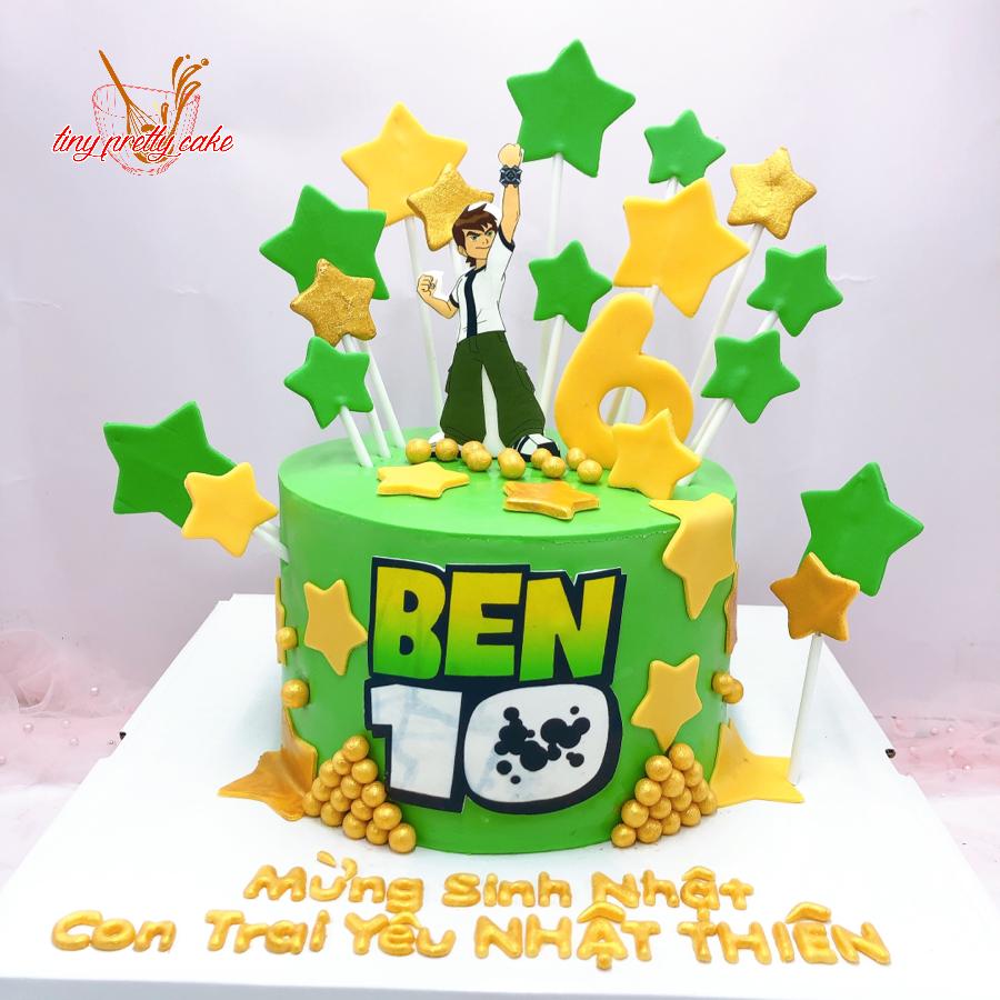 Bánh fondant sinh nhật Ben 10 cho bé