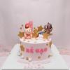 Bánh sinh nhật kem sữa chủ đề heo và công chúa