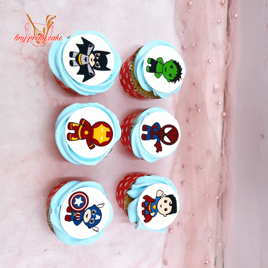 6 bánh Cupcake in hình